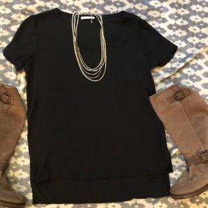 EUC⭐️ Soprano Black Short Sleeve Blouse